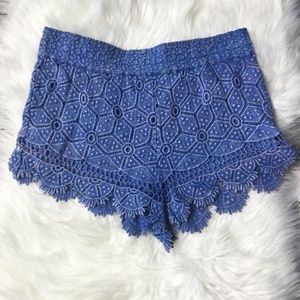 Crochet Scalloped Shorts Urban Outfitters Ecote
